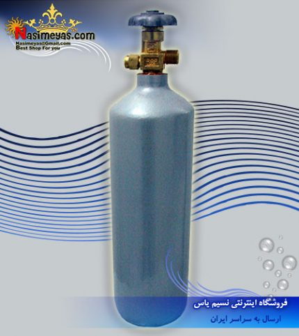 کپسول 2 لیتری co2 ایرانی نقره ای