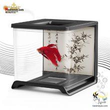 مینی آکواریوم ماهی فایتر مشکی ۰۲ هایلا