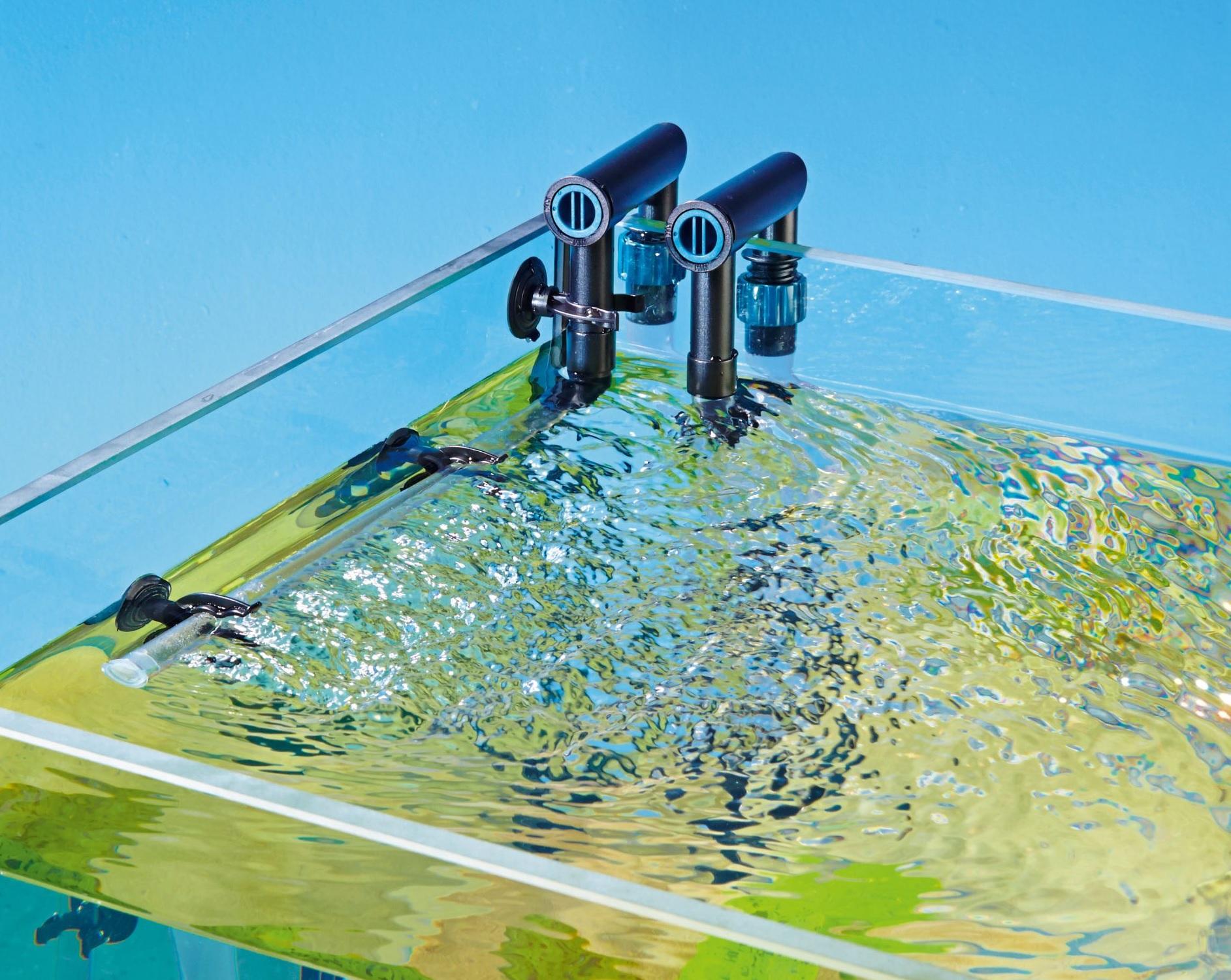 تلاطم کافی آب، نه تنها می تواند نقاط مرده را ازبین ببرد، بلکه با ایجاد تبادل کافی، اکسیژن زیادی نیز تامین می نماید.