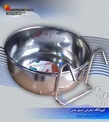 ظرف استیل غذای پرندگان شرکت فرپلاست