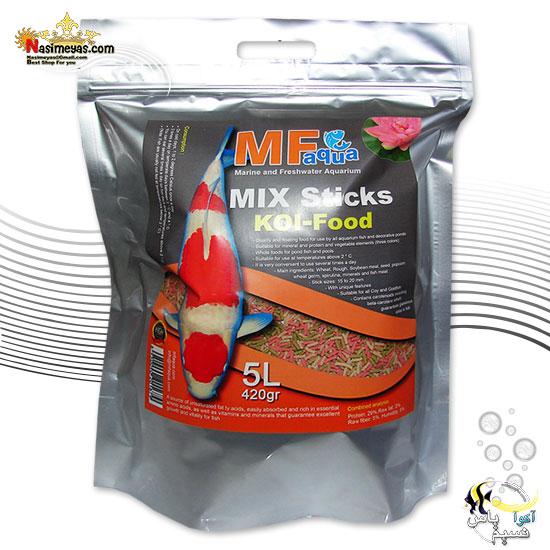 غذای تخصصی میکس استیک ماهی کوی ام اف آکوا