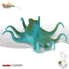 دکور اختاپوس پلاستیکی AM0036 آبی رنگ