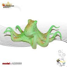 دکور اختاپوس پلاستیکی AM0036 سبز رنگ