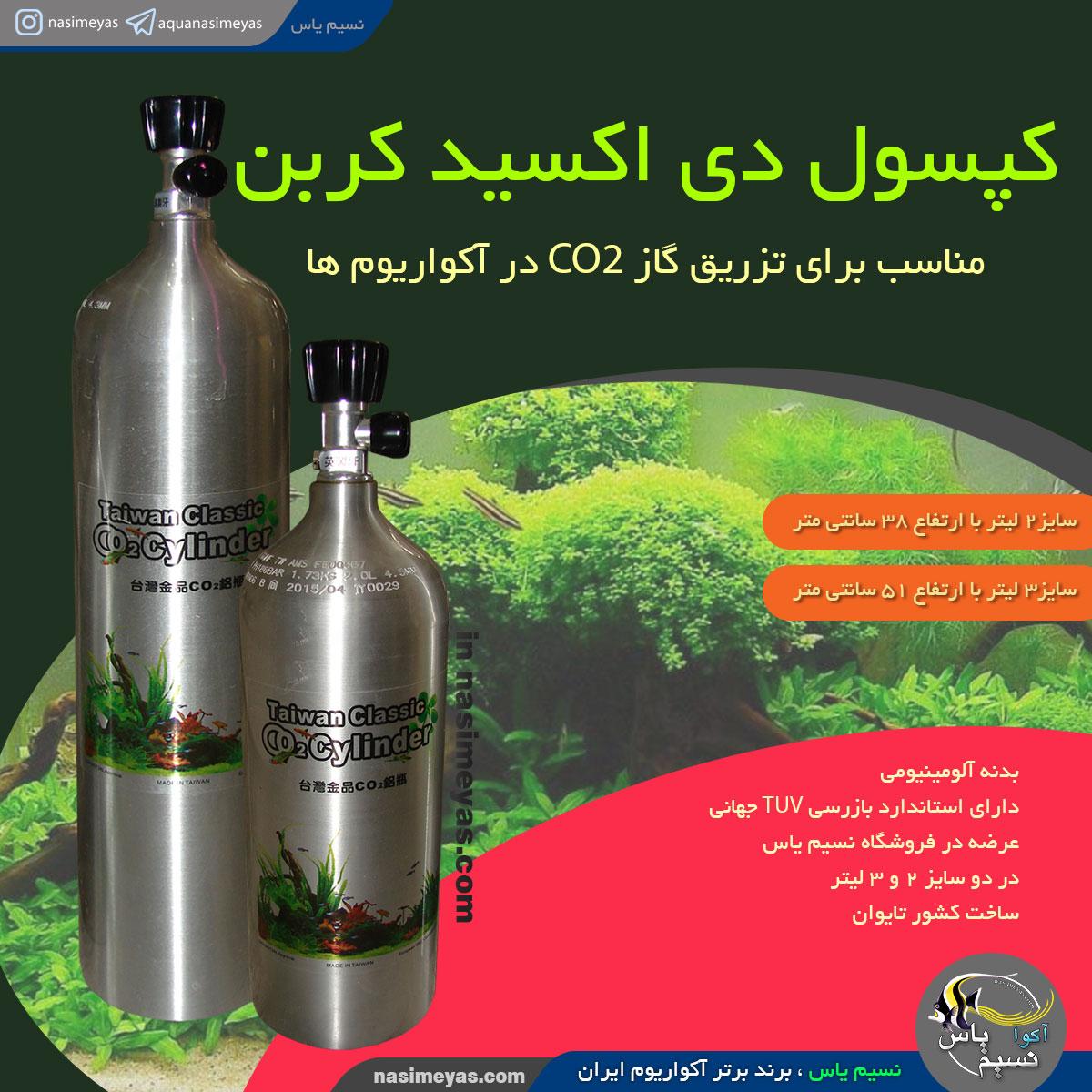 کپسول CO2 آلومینیومی تایوانی ۲ لیتری