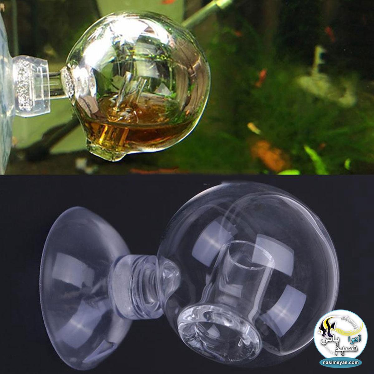 تست و نشانگر co2 شیشه ای مدل گرد ویو