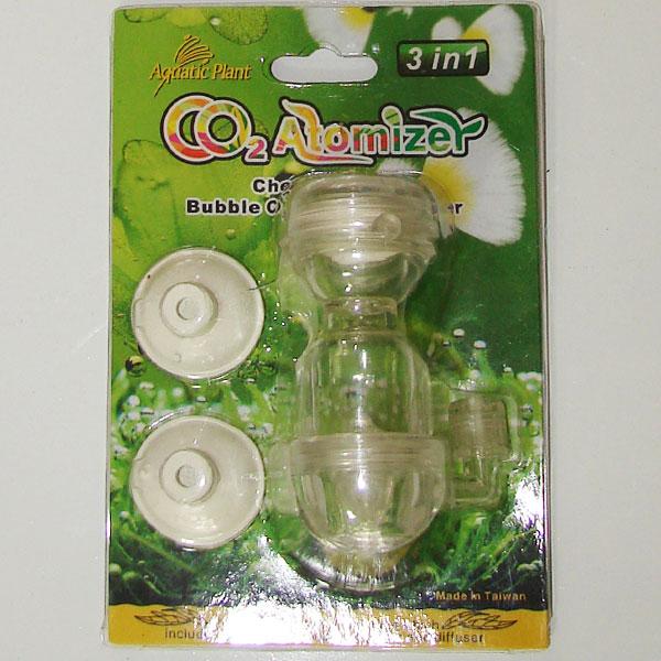 Aquatic plant bubble counter and diffuser