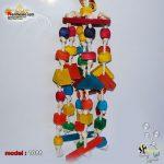 اسباب بازی پرنده آویز چوبی بزرگ کد ۱۰۸۸