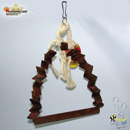 اسباب بازی و تاب پرنده چوب و طناب کد 1030