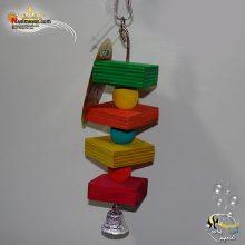 اسباب بازی پرنده چوبی زنگوله دار کد ۱۰۷۲
