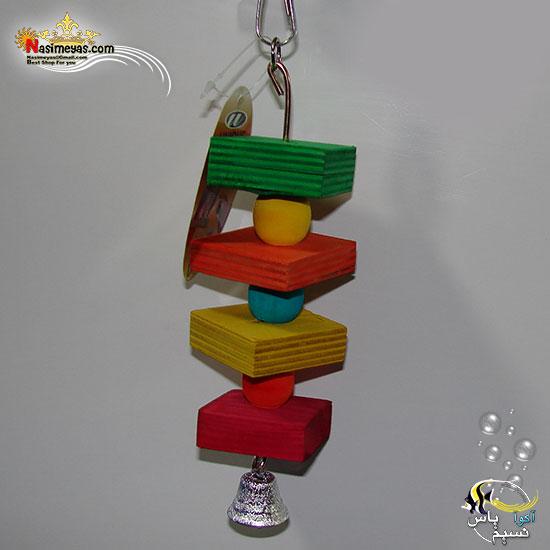 اسباب بازی پرنده چوبی زنگوله دار کد 1072