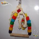 اسباب بازی پرنده چوب و طناب کد ۱۰۴۰