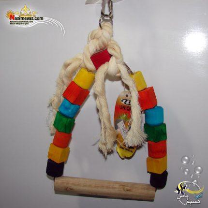 اسباب بازی پرنده چوب و طناب کد 1040