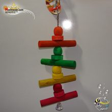 اسباب بازی پرنده چوب و زنجیر زنگوله دار کد ۱۰۲۲