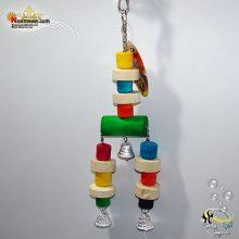 اسباب بازی پرنده چوب و زنجیر زنگوله دار کد ۱۰۱۲
