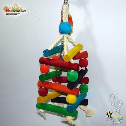 اسباب بازی پرنده چوب و طناب کد 1018