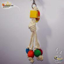 اسباب بازی پرنده آویز چوب و طناب کد 1112