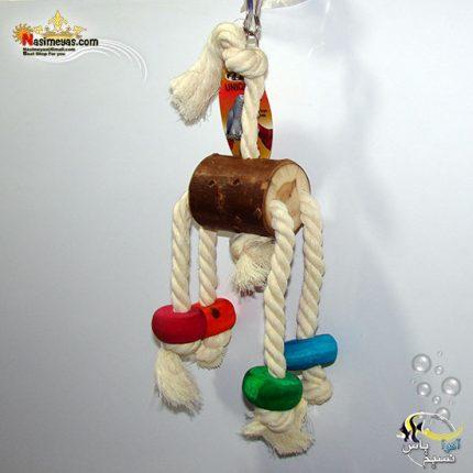 اسباب بازی پرنده چوب و طناب کد 1116