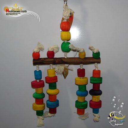 اسباب بازی پرنده چوب و طناب کد 1014