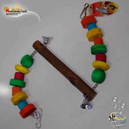 اسباب بازی پرنده چوب و طناب کد 1026