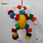 اسباب بازی پرنده طرح آدمک چوبی کد ۱۰۱۶