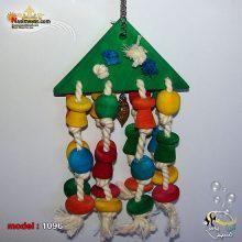 اسباب بازی پرنده چوبی آویز کد ۱۰۹۶