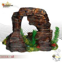 دکور آکواریوم طرح صخره ای کد 0118