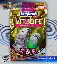 غذای طوطی پریمیوم ویتالایف پروبیوتیک ۶۵۰ گرم ویتاکرافت