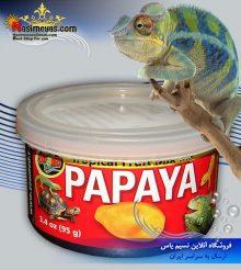 کنسرو میکس پاپایا برای غذای خزندگان زوو مد کروچی